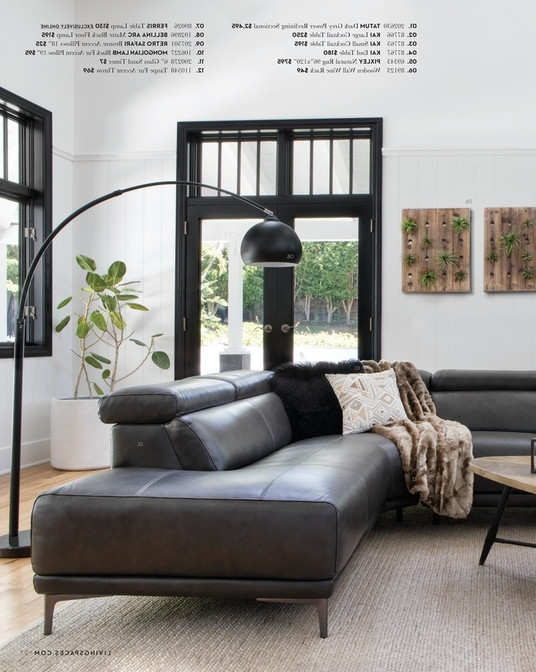 Featured Photo of Tatum Dark Grey 2 Piece Sectionals With Laf Chaise