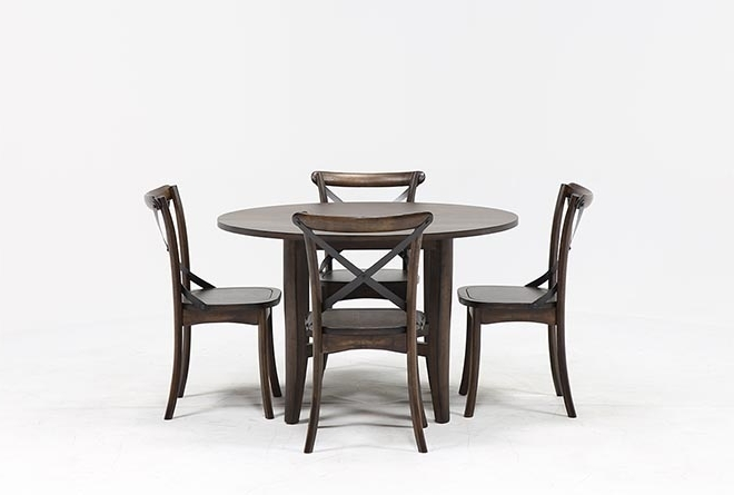 Living Spaces For Grady 5 Piece Round Dining Sets (Gallery 1 of 20)