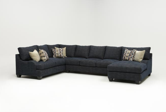 Living Spaces For Most Recently Released Sierra Down 3 Piece Sectionals With Laf Chaise (View 3 of 15)