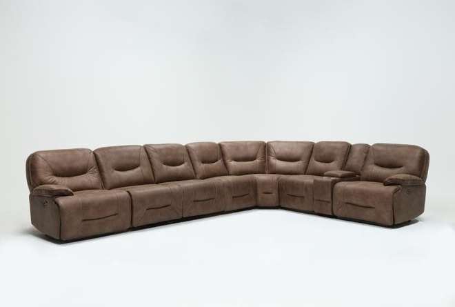 Living Spaces Intended For Clyde Grey Leather 3 Piece Power Reclining Sectionals With Pwr Hdrst & Usb (View 4 of 15)
