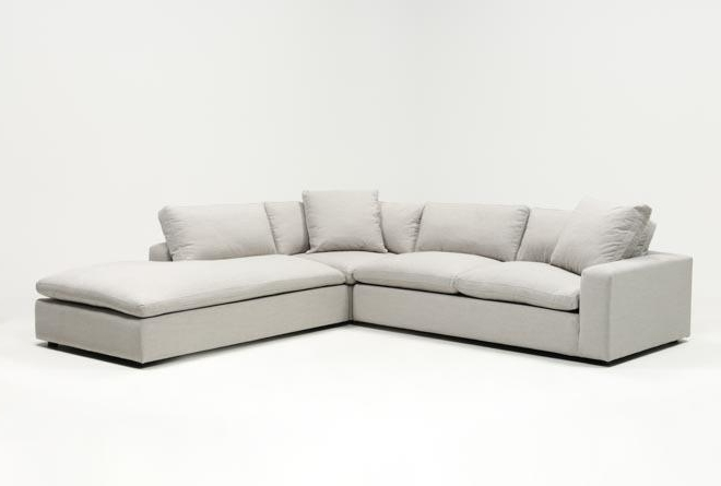 Living Spaces Intended For Well Liked Haven 3 Piece Sectionals (View 1 of 15)