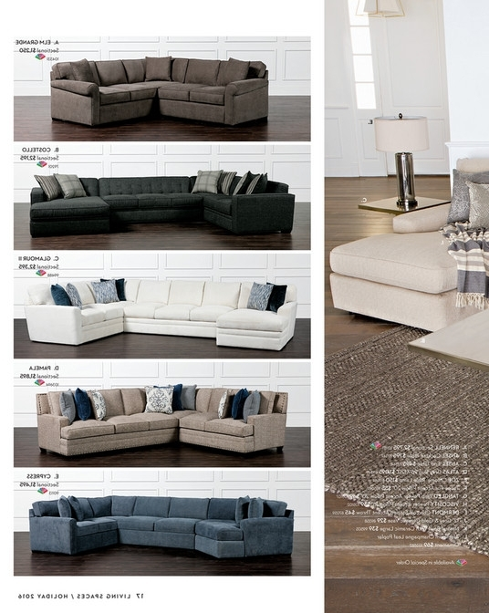 Living Spaces – Product Catalog – Holiday 2016 – Costello 3 Piece Throughout Latest Glamour Ii 3 Piece Sectionals (View 4 of 15)