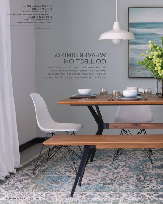 Living Spaces – Product Catalog – Spring 2017 – Weaver Dining Table In Most Up To Date Weaver Ii Dining Tables (View 20 of 20)