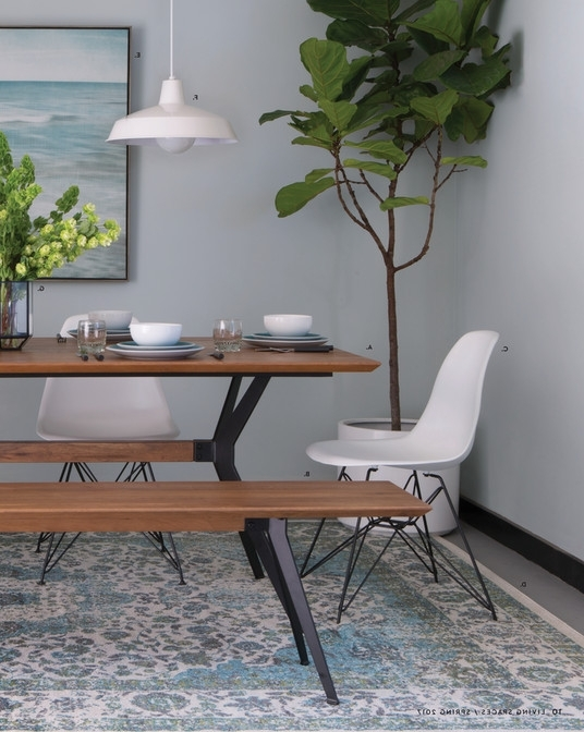 Living Spaces – Product Catalog – Spring 2017 – Weaver Dining Table Inside Most Recent Weaver Ii Dining Tables (View 2 of 20)