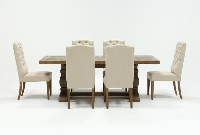 Living Spaces Regarding Well Known Caden 5 Piece Round Dining Sets With Upholstered Side Chairs (View 11 of 20)