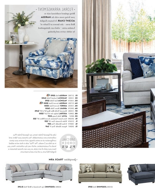 Living Spaces – Spring 2018 – Josephine 2 Piece Sectional W/raf Sofa Throughout Best And Newest Josephine 2 Piece Sectionals With Raf Sofa (View 3 of 15)