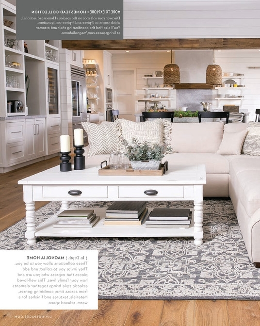 Living Spaces – Spring 2018 – Magnolia Home Homestead 3 Piece Pertaining To Well Liked Magnolia Home Homestead 4 Piece Sectionals By Joanna Gaines (View 1 of 15)