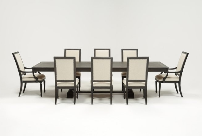 Living Spaces With Most Up To Date Chapleau Ii 9 Piece Extension Dining Tables With Side Chairs (Gallery 1 of 20)