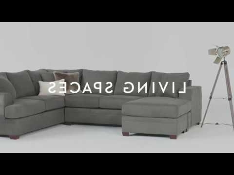 Living Spaces – Youtube Intended For Arrowmask 2 Piece Sectionals With Raf Chaise (View 9 of 15)