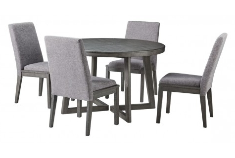 Local Furniture Outlet In Austin, Texas Throughout Well Liked Caira Black 5 Piece Round Dining Sets With Diamond Back Side Chairs (View 11 of 20)
