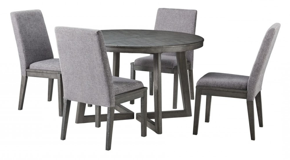 Local Pertaining To Jaxon 5 Piece Round Dining Sets With Upholstered Chairs (View 14 of 20)