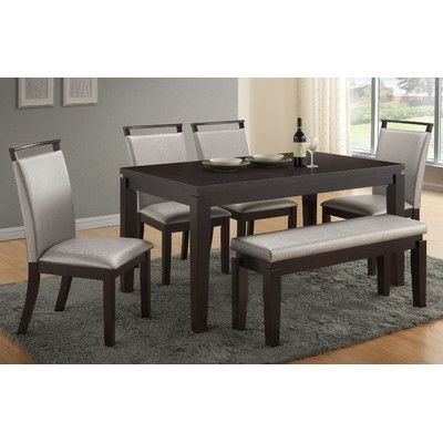 Logan 6 Piece Dining Sets Pertaining To Current Wade Logan Carmichael 6 Piece Dining Set (View 7 of 20)