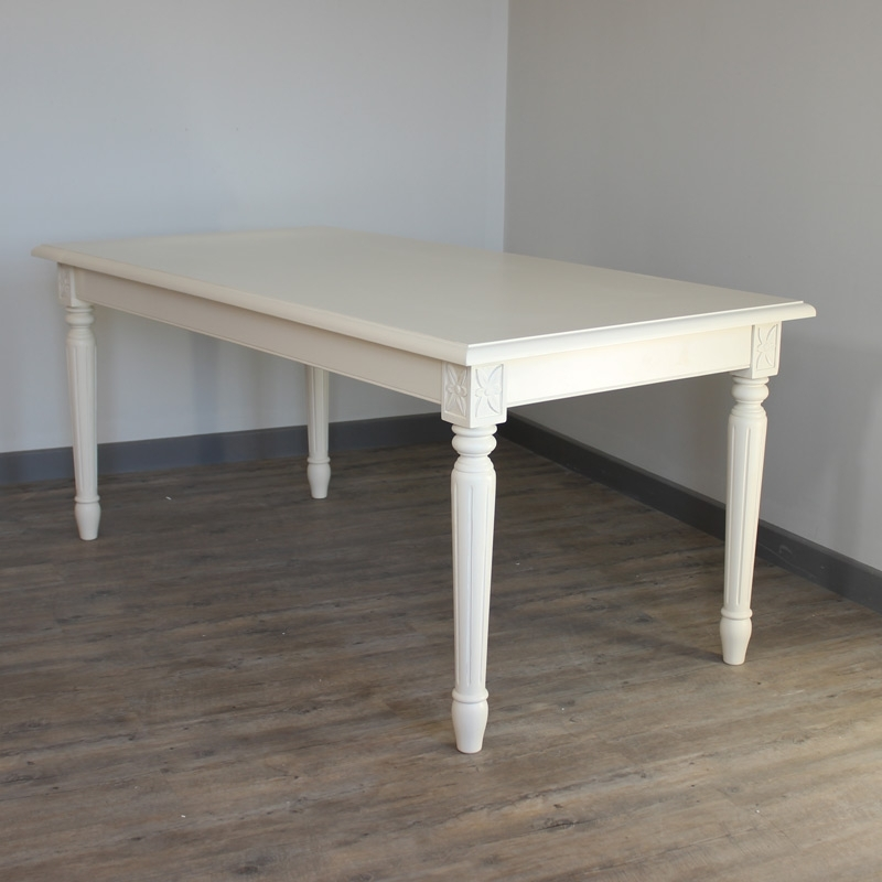 London Dining Tables Throughout Popular Cream Dining Table – Melody Maison® (View 12 of 20)
