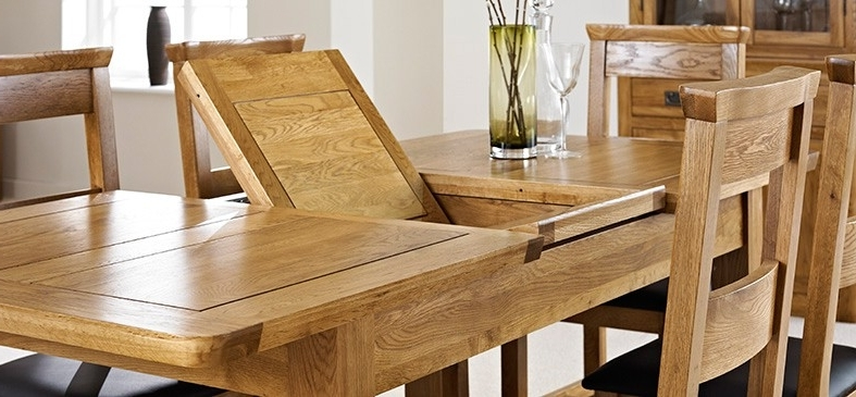 London Oak Extending Dining Table – Dining Tables – Dining Room With Most Recently Released London Dining Tables (View 20 of 20)