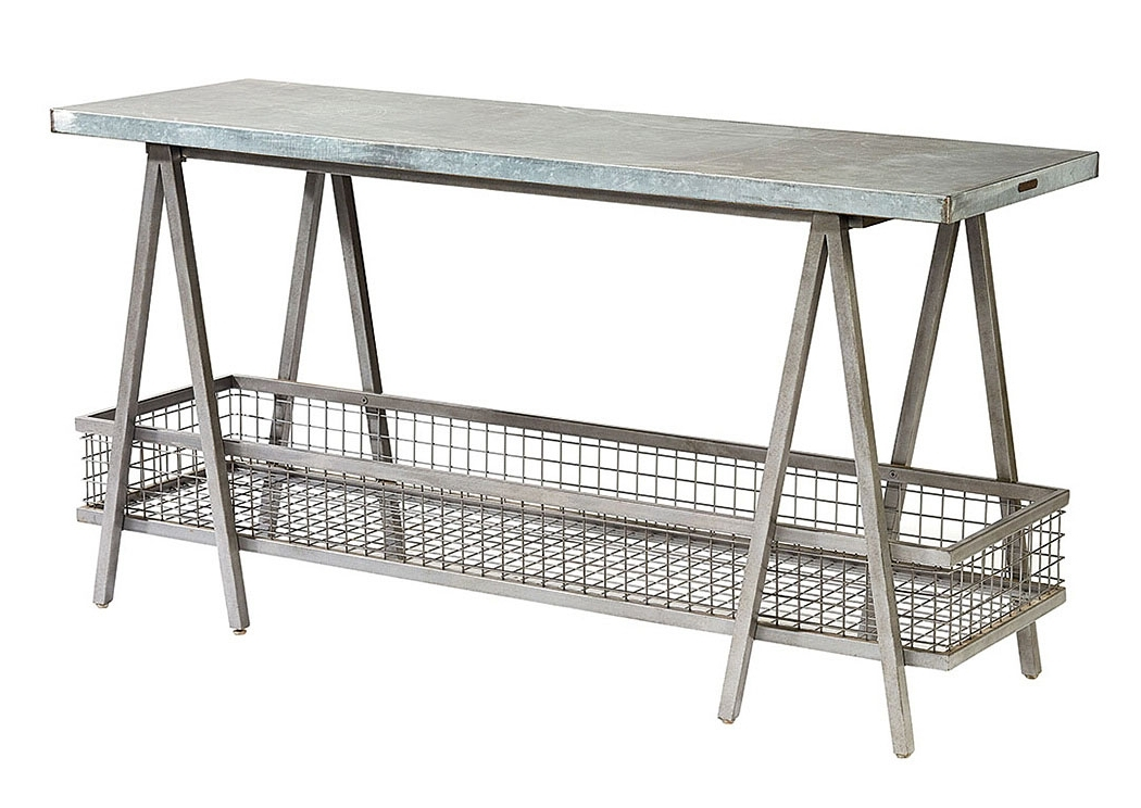 "Long Furniture – Rainbow City, Al ""the Shannon"" Zinc Top Table Throughout Popular Magnolia Home Taper Turned Bench Gathering Tables With Zinc Top (View 10 of 20)"