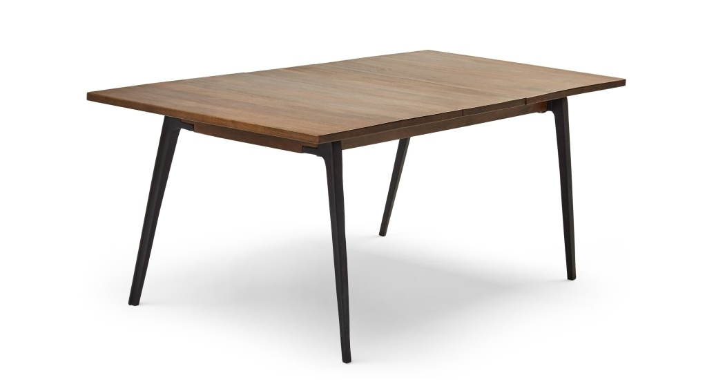 Lucien Extending Dining Table, Dark Mango Wood (View 13 of 20)