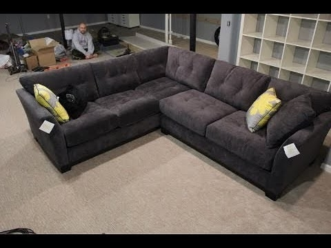 Lucy Dark Grey 2 Piece Sectionals With Raf Chaise Inside Well Known Dark Grey Sectional Lucy 2 Piece W Raf Chaise Living Spaces (View 4 of 15)