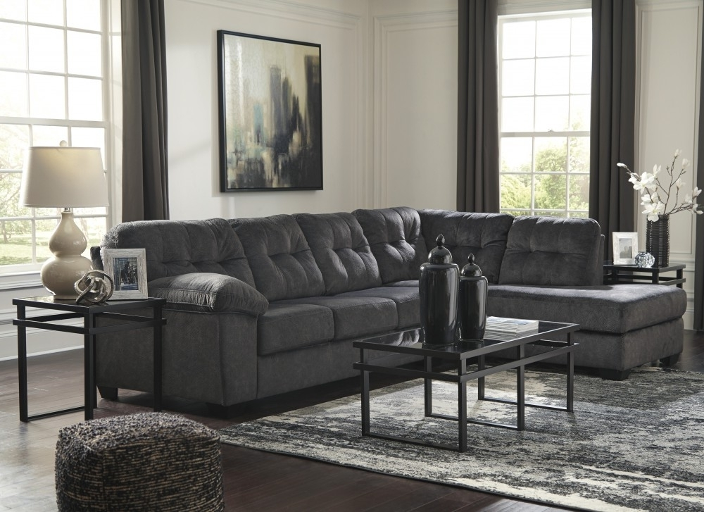 Lucy Grey 2 Piece Sectionals With Laf Chaise Intended For Popular Accrington – Granite 2 Pc Laf Corner Chaise Sectional (View 9 of 15)
