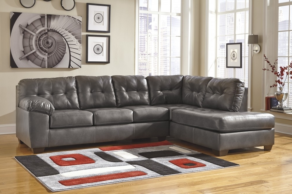 Lucy Grey 2 Piece Sleeper Sectionals With Laf Chaise Pertaining To Popular Alliston Durablend – Gray 2 Pc (View 4 of 15)