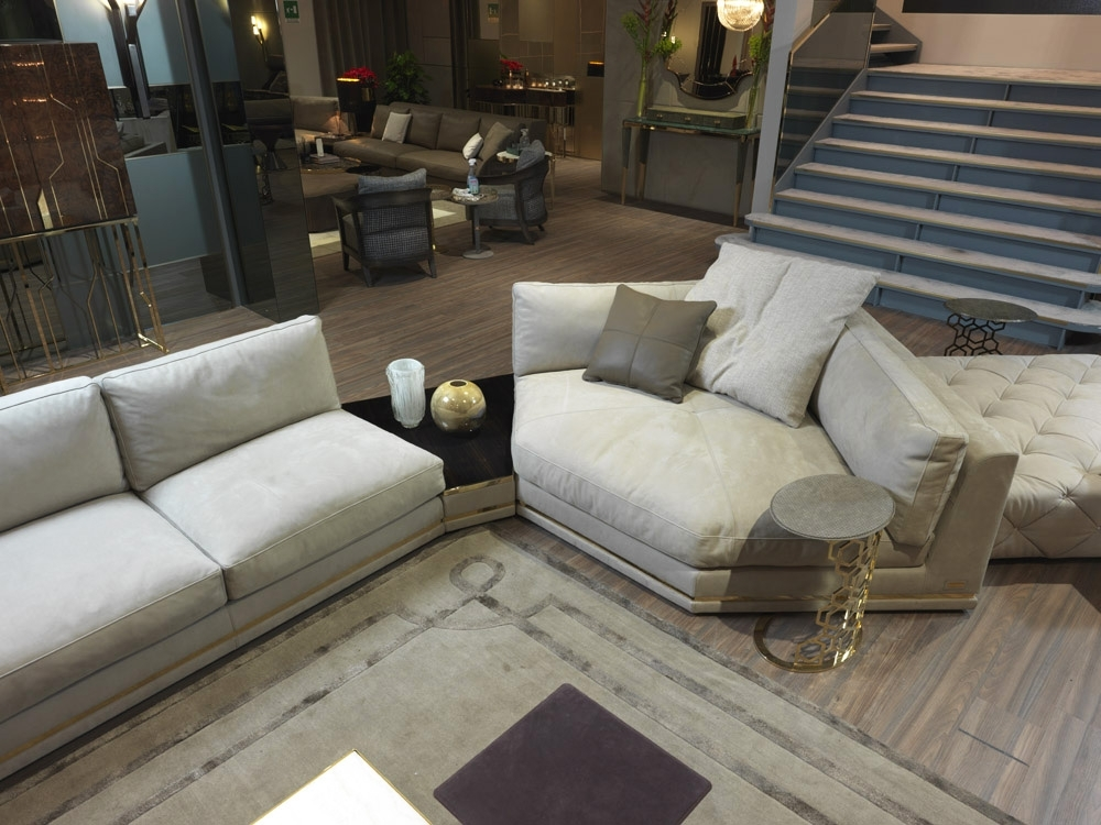 Luxury Italian Designer Cohen Sectional – Italian Designer & Luxury With Newest Cohen Down 2 Piece Sectionals (View 9 of 15)