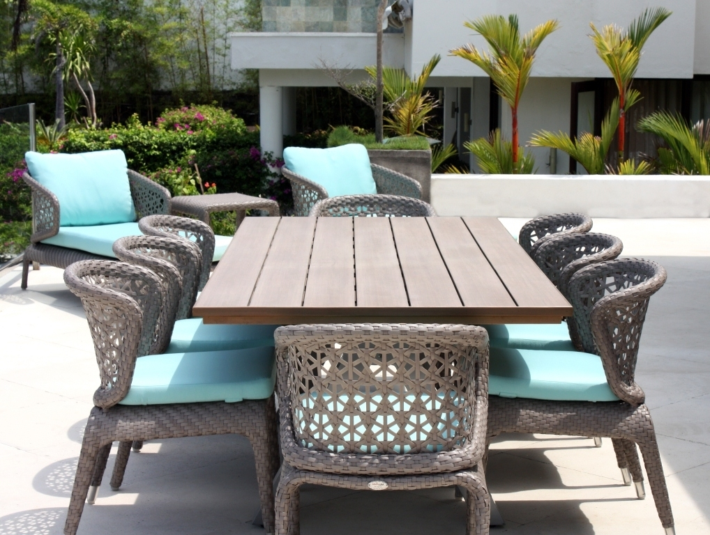 Luxury Rattan Garden Furniture – Modern & Contemporary Designs Throughout Fashionable Garden Dining Tables (View 16 of 20)