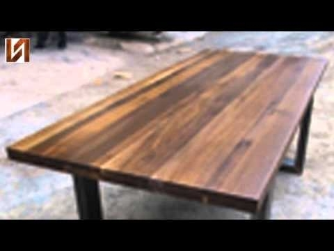 Lyon Dining Tables Pertaining To Most Recently Released Nuevo Lyon Dining Table Seared Oak, High Polish Stainless – Youtube (View 13 of 20)