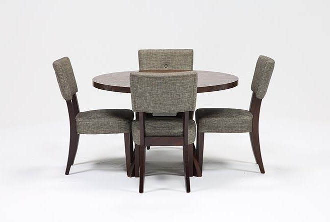 Macie 5 Piece Round Dining Sets For Well Liked Macie 5 Piece Round Dining Set (View 6 of 20)
