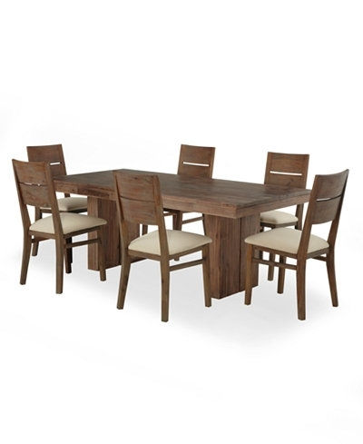 Macie 5 Piece Round Dining Sets Intended For Popular Champagne Dining Room Furniture 7 Piece Set Created For Macy S (View 8 of 20)