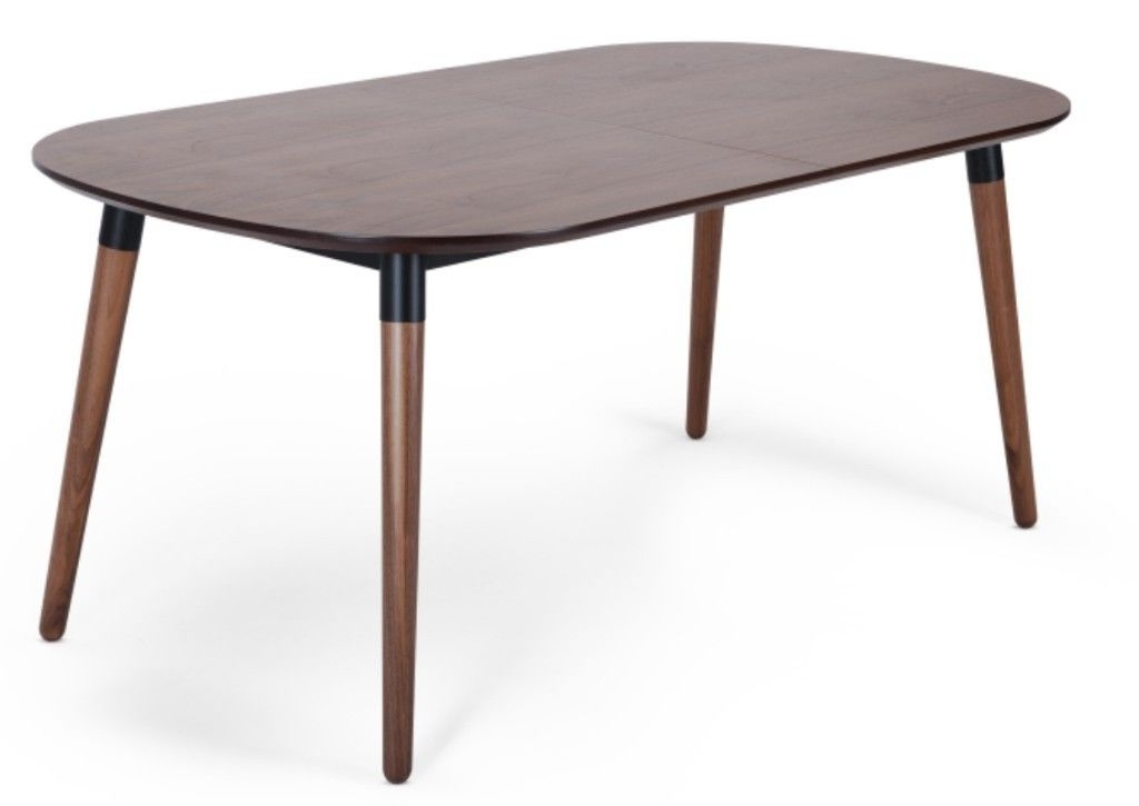 Made Edelweiss Extending Dining Table, Walnut And Black (View 17 of 20)