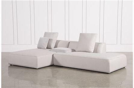 Maggie Light Grey 3 Piece Sectional W/raf Chaise & Plaid Stool Throughout Well Known Glamour Ii 3 Piece Sectionals (View 11 of 15)