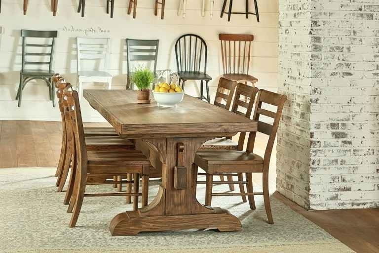 Magnolia Dining Table – Clamshellmelts Intended For Best And Newest Magnolia Home Double Pedestal Dining Tables (View 7 of 20)