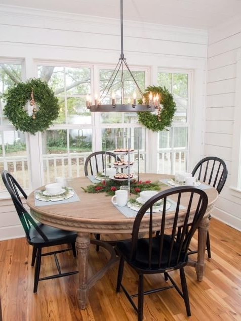 Magnolia Home Breakfast Round Black Dining Tables For Current Fixer Upper: Renovation And Holiday Decor At Magnolia House Bed And (View 7 of 20)