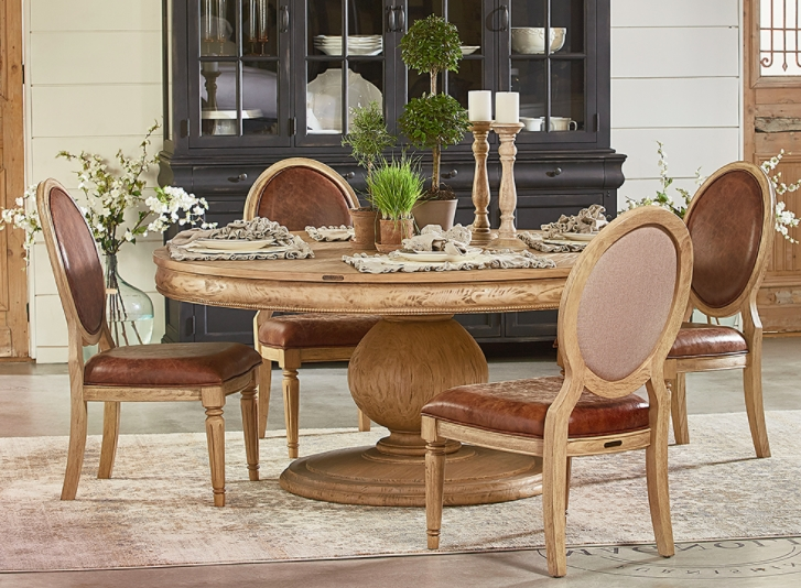 Magnolia Home Double Pedestal Dining Tables For Widely Used Magnolia Home Dining – Sigman Mills Furniture (View 8 of 20)