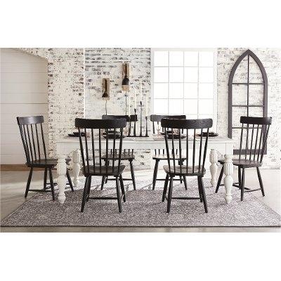 Magnolia Home Furniture Brown 6 Piece Twin Bedroom Set – Framework Regarding Favorite Magnolia Home Sawbuck Dining Tables (View 9 of 20)