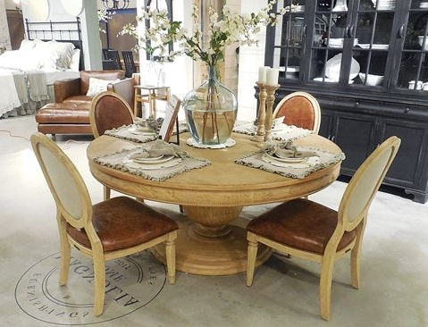 Featured Photo of Magnolia Home Breakfast Round Black Dining Tables