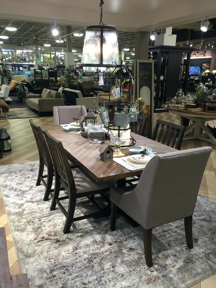 Magnolia Home Shop Floor Dining Tables With Iron Trestle In Trendy Magnolia Table – Rileywranglers (View 11 of 20)
