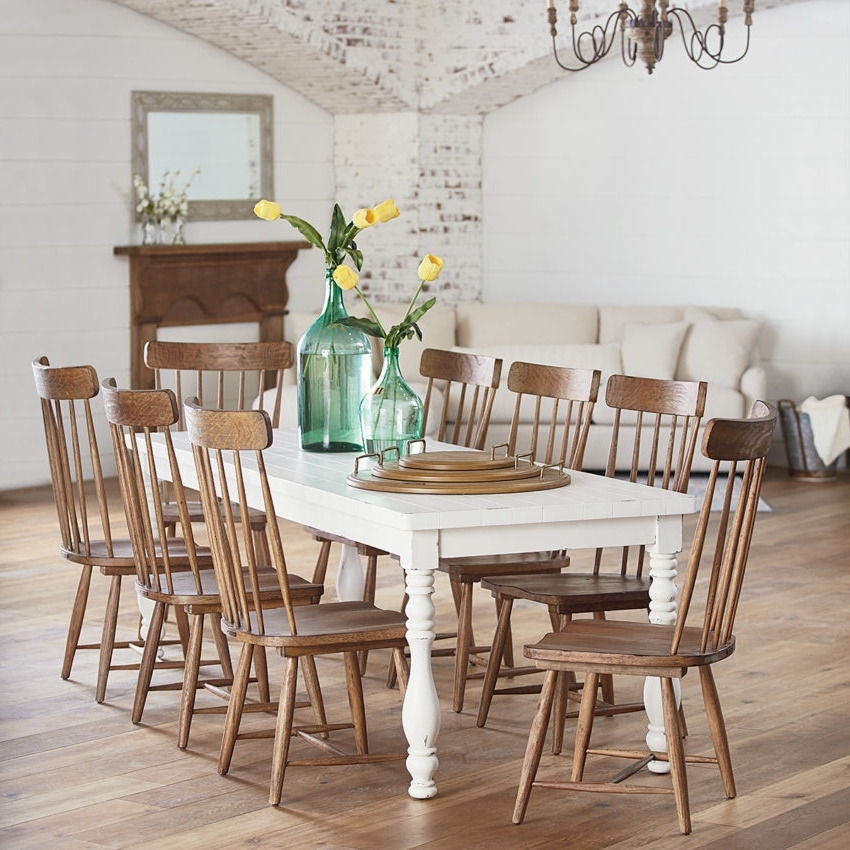 Magnolia Home Taper Turned Jo's White Gathering Tables With Well Liked Dining – Furniture – Mayo's Furniture & Flooring, Vermont (View 10 of 20)