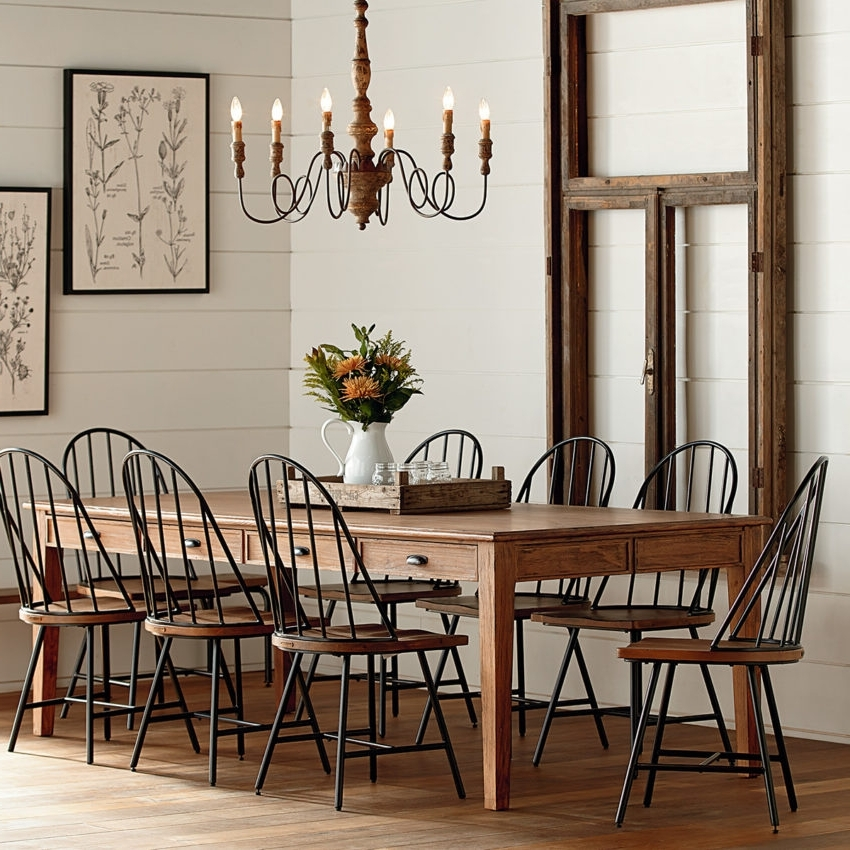 Magnolia Home Taper Turned Jo's White Gathering Tables Within Most Current Dining – Furniture – Mayo's Furniture & Flooring, Vermont (View 20 of 20)