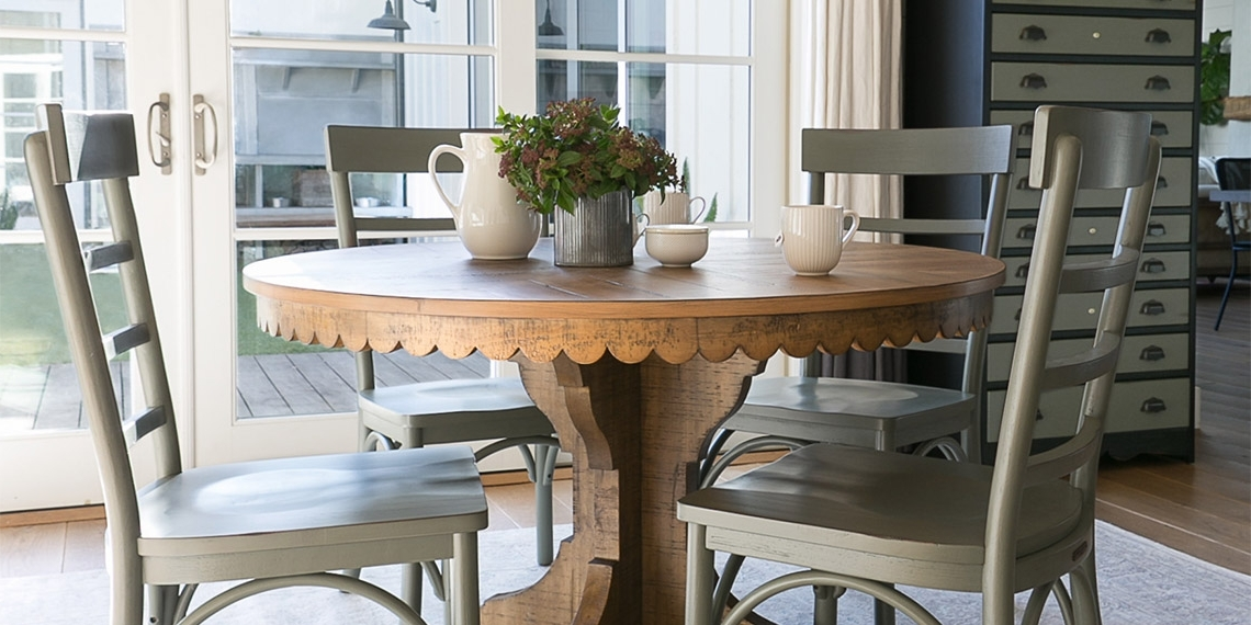 Magnolia Home Top Tier Round Dining Tables With Famous Country/rustic Dining Room With Magnolia Home Top Tier Round Table (View 3 of 20)