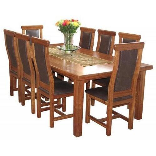 Mahalaxmi Art Brown 8 Seater Dining Table Set, Rs 35000 /set (View 16 of 20)