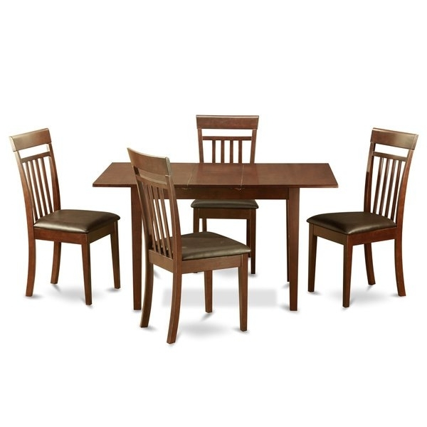 Mahogany Dining Tables And 4 Chairs Throughout Favorite Mahogany Dining Room Table And 4 Dining Room Chairs Chairs 5 Piece (View 10 of 20)