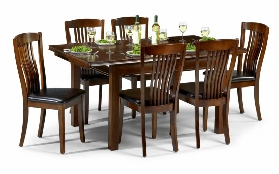 Mahogany Dining Tables And 4 Chairs With Best And Newest Julian Bowen Canterbury Mahogany Dining Set Table + 4 Slatted Chairs (View 11 of 20)