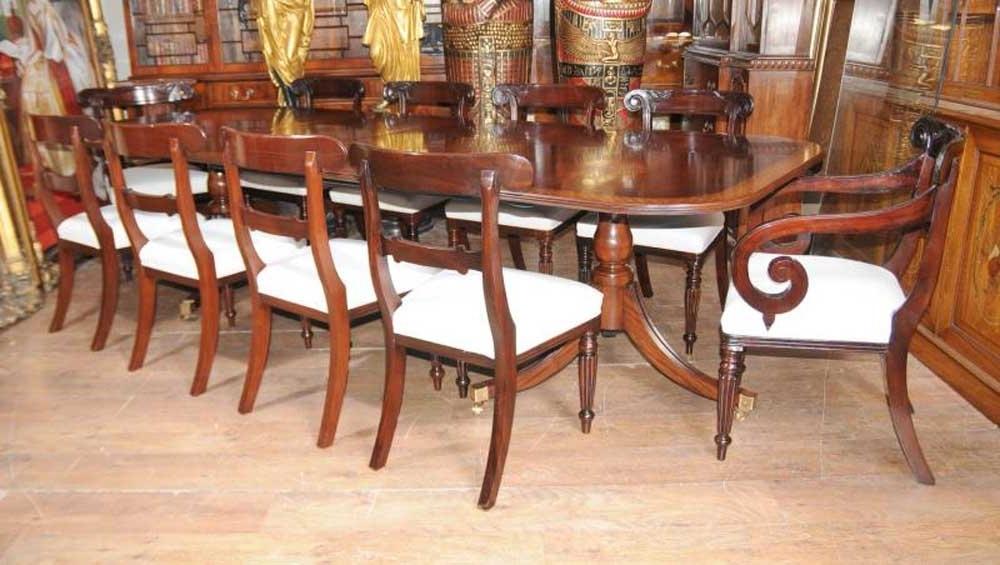 Mahogany Dining Tables And 4 Chairs With Famous Regency Mahogany Dining Set William Iv Chairs Table Suite (View 12 of 20)