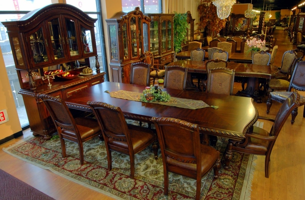 Mahogany Dining Tables Sets Pertaining To Latest Buy Antoinette Dining Room Set In Cherry – Mahogany Finishsteve (View 8 of 20)