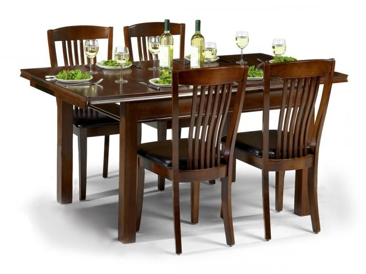Mahogany Dining Tables Sets With Trendy Julian Bowen – Canterbury Extending Dining Table With 4 Or 6 Chairs (View 6 of 20)