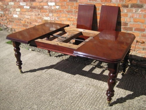 Mahogany Extending Dining Tables For Most Popular Victorian Mahogany Extending Dining Table – Antiques Atlas (View 10 of 20)