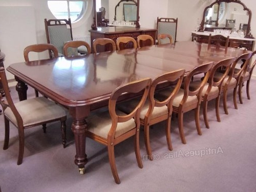 Mahogany Extending Dining Tables Within Widely Used Large 19Thc Mahogany Extending Dining Table – Antiques Atlas (View 14 of 20)