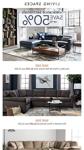 Malbry Point 3 Piece Sectionals With Raf Chaise For Most Up To Date Clearance Spotlight (View 8 of 15)