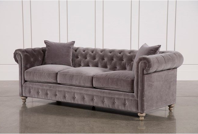 Malbry Point 3 Piece Sectionals With Raf Chaise Within 2018 Mansfield 96 Inch Graphite Velvet Sofa (View 7 of 15)
