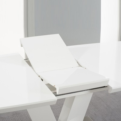 Malta High Gloss White Extending Dining Table – Robson Furniture With Fashionable White Extending Dining Tables (View 19 of 20)